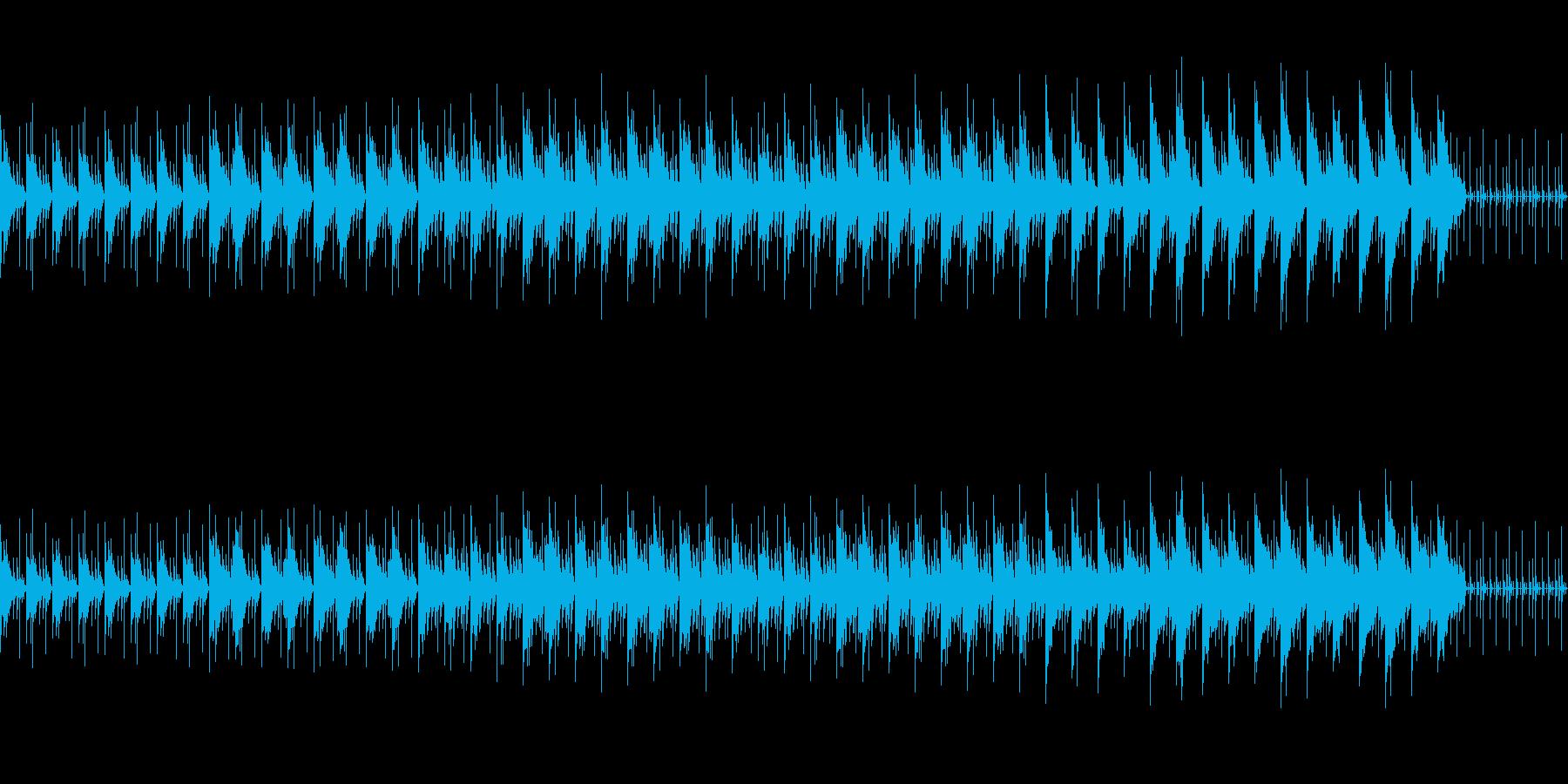始まりを予感するピアノとヴィブラフォンの再生済みの波形