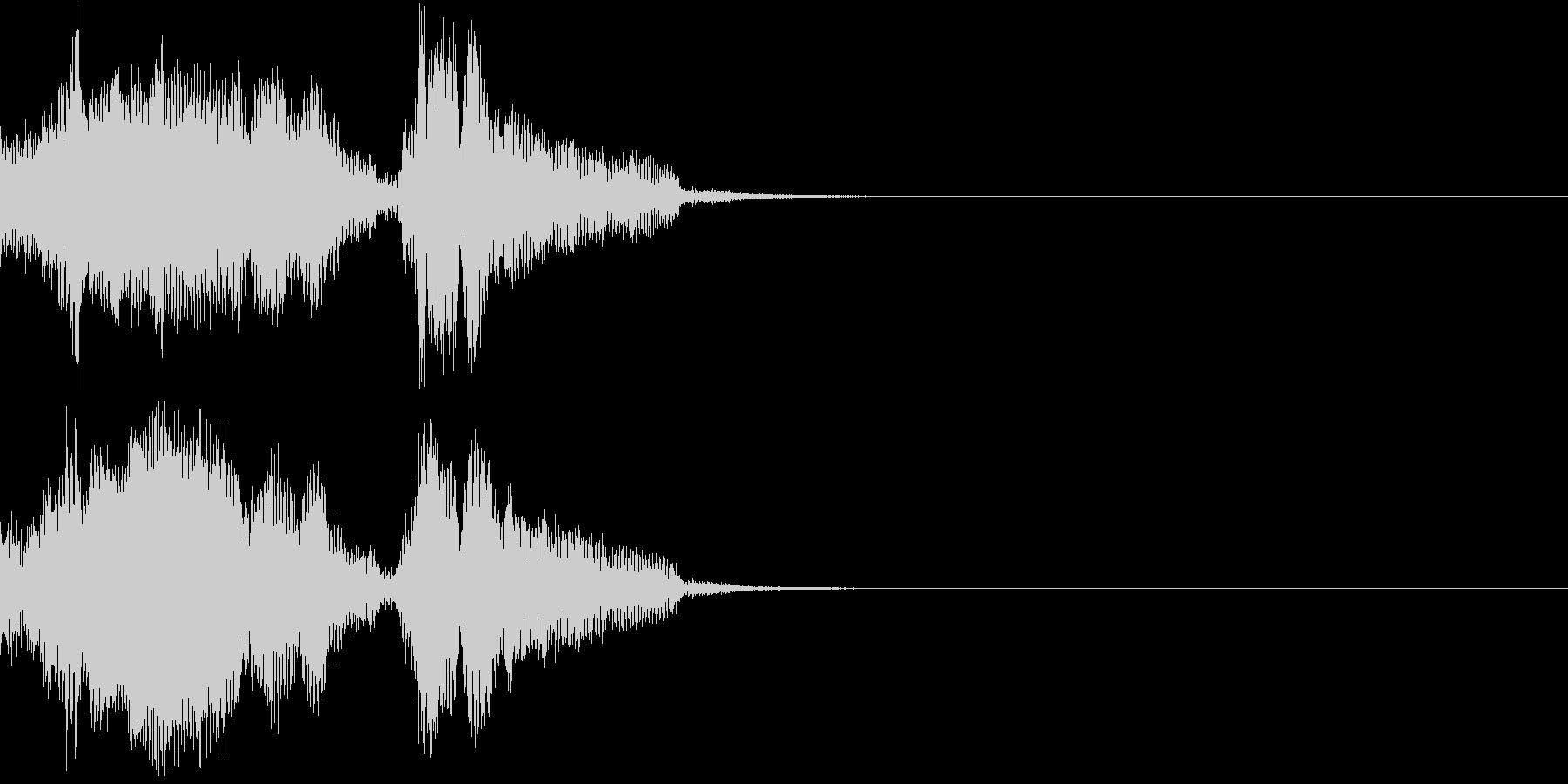 Monster 未知の生物の発する音声2の未再生の波形