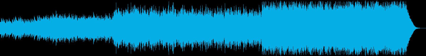 ハープとストリングスの幻想的で静かな曲の再生済みの波形