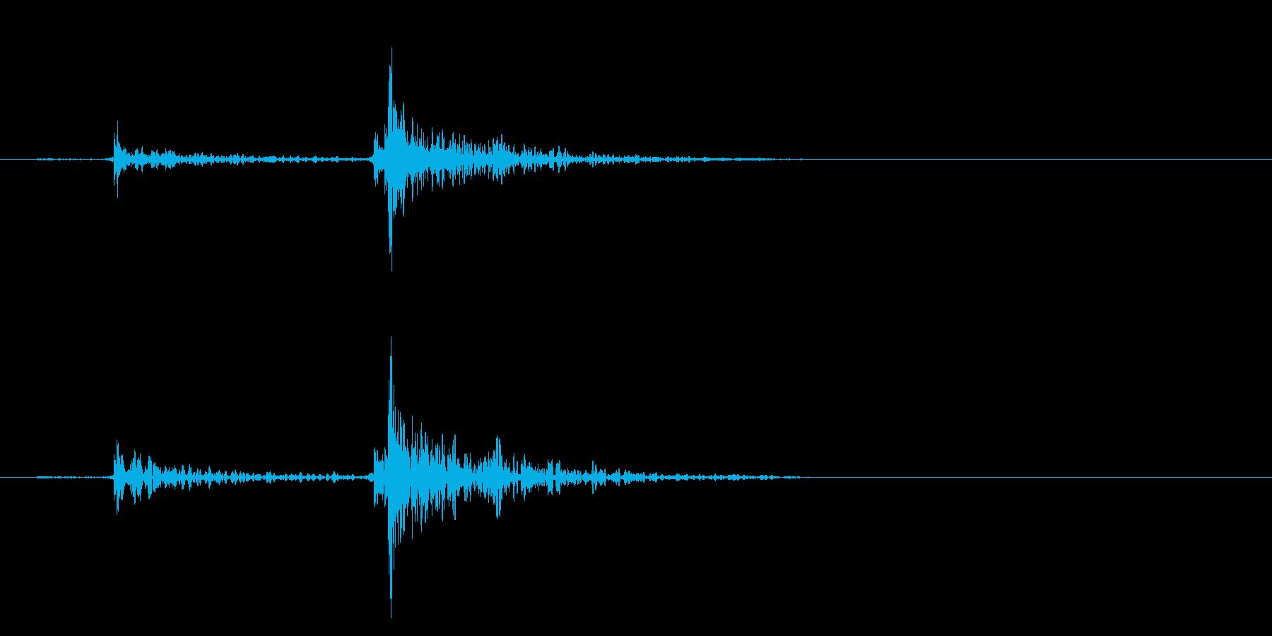ドアを閉める音(エフェクト無し)の再生済みの波形