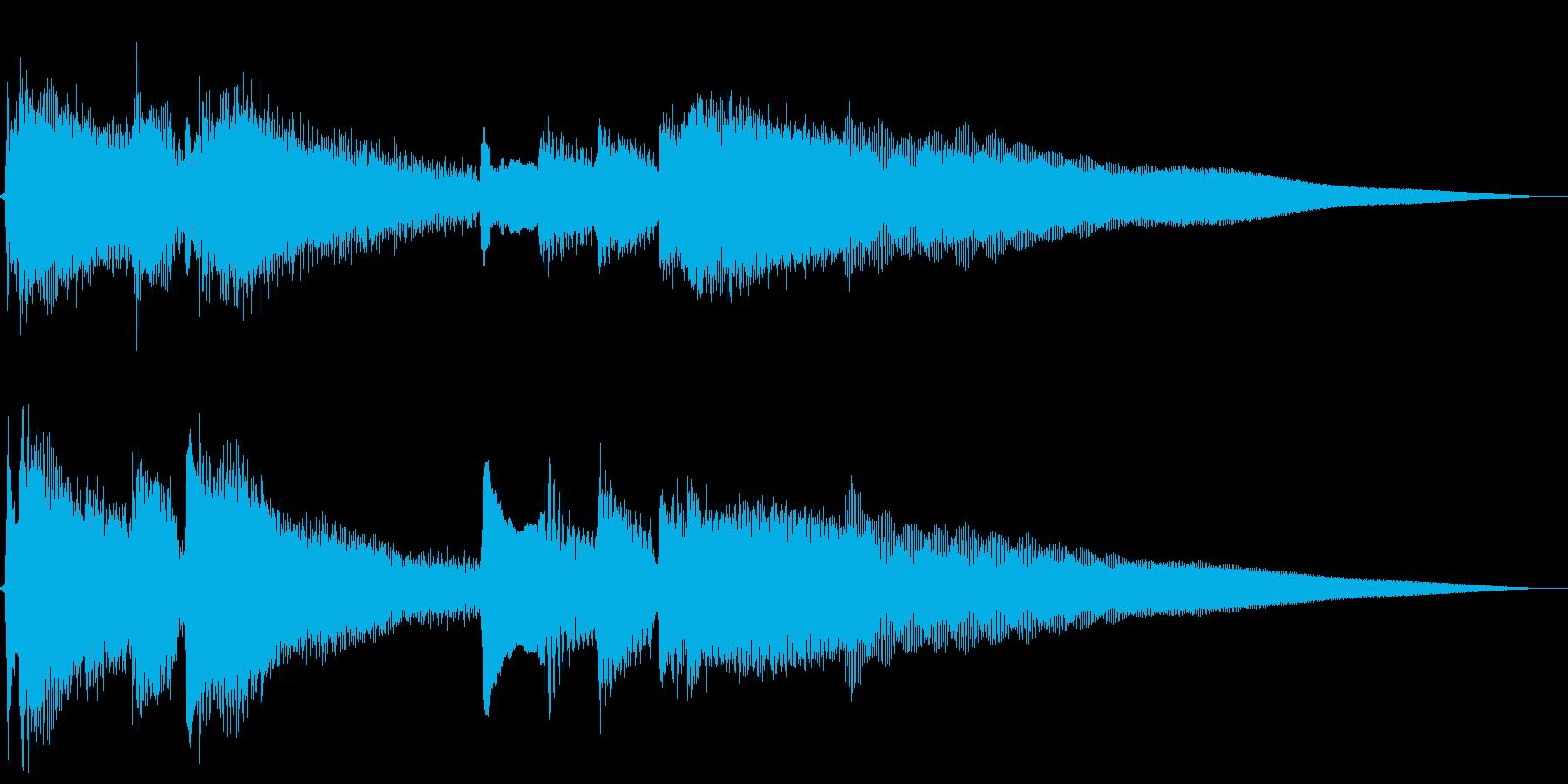切ない雰囲気のアコギ主体のジングルの再生済みの波形