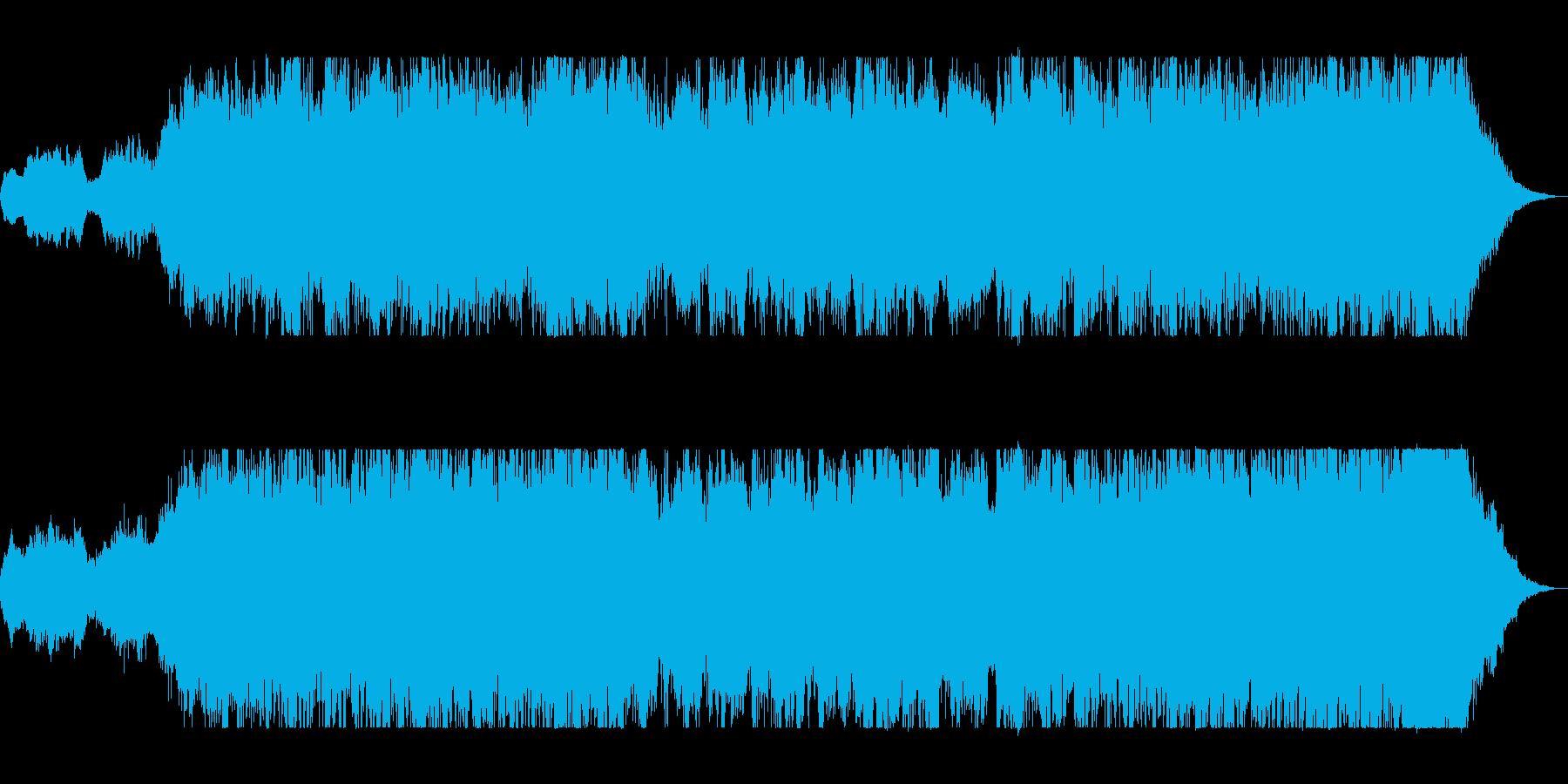壮大で悠長なオーケストラサウンドの再生済みの波形