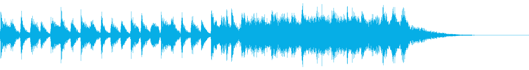ニュースオープニング(モノラル)の再生済みの波形