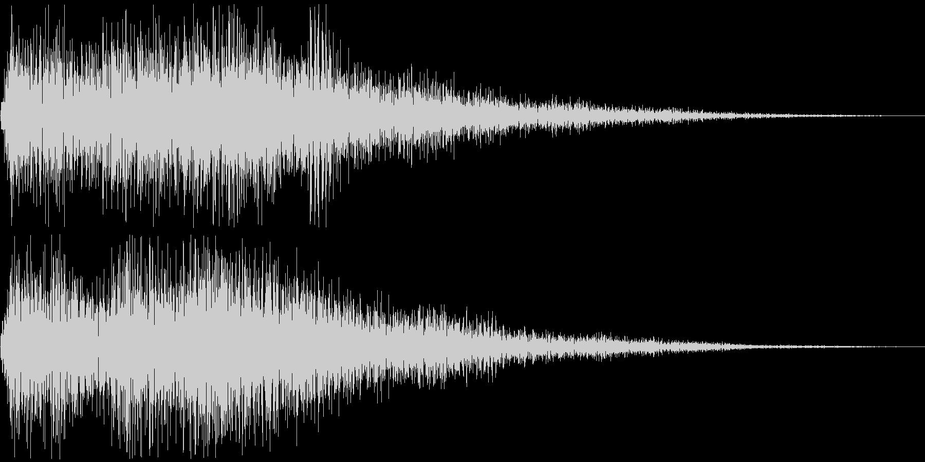 レベルアップ時の短いファンファーレの未再生の波形