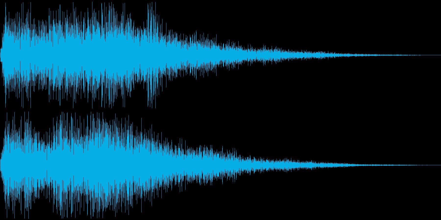 レベルアップ時の短いファンファーレの再生済みの波形