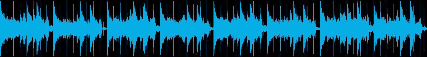 90年代トリップホップ風ループの再生済みの波形