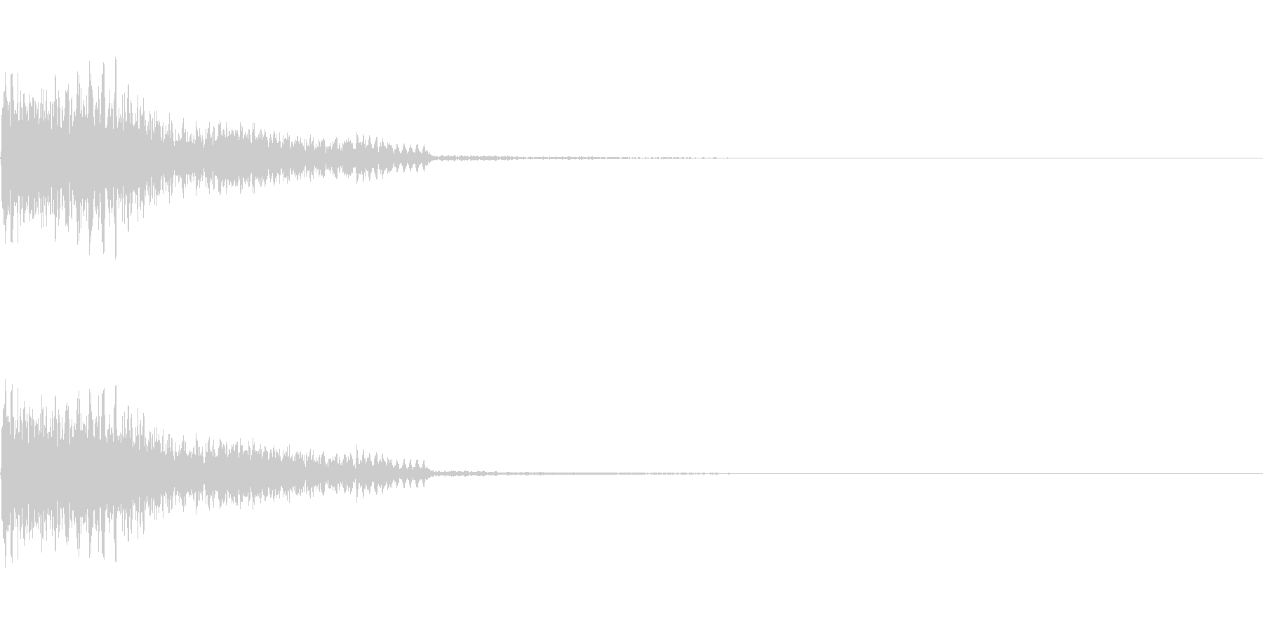 【SE 効果音】不安な音4の未再生の波形