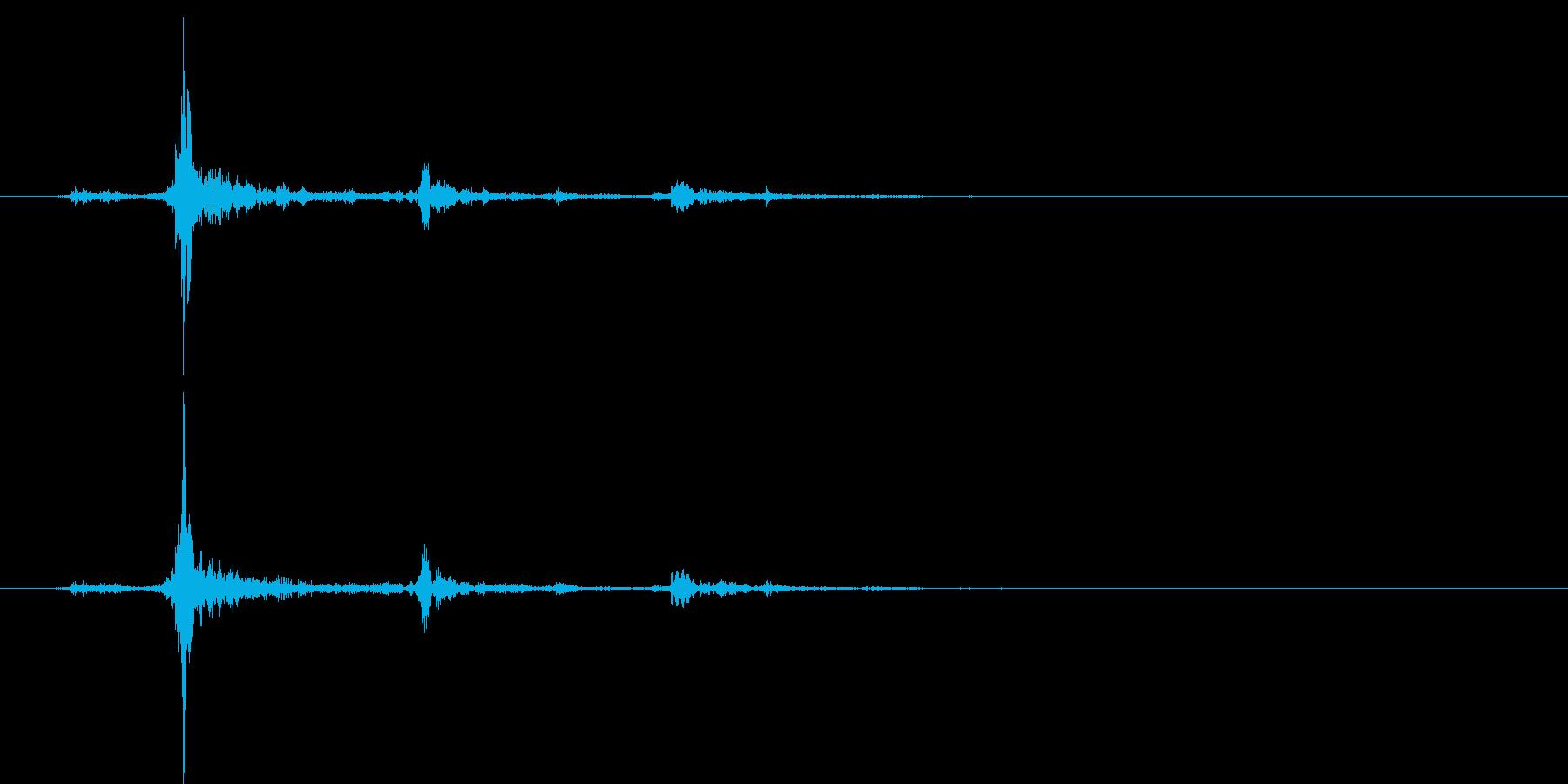 水面に何かを投げて落とした音チャポン2の再生済みの波形