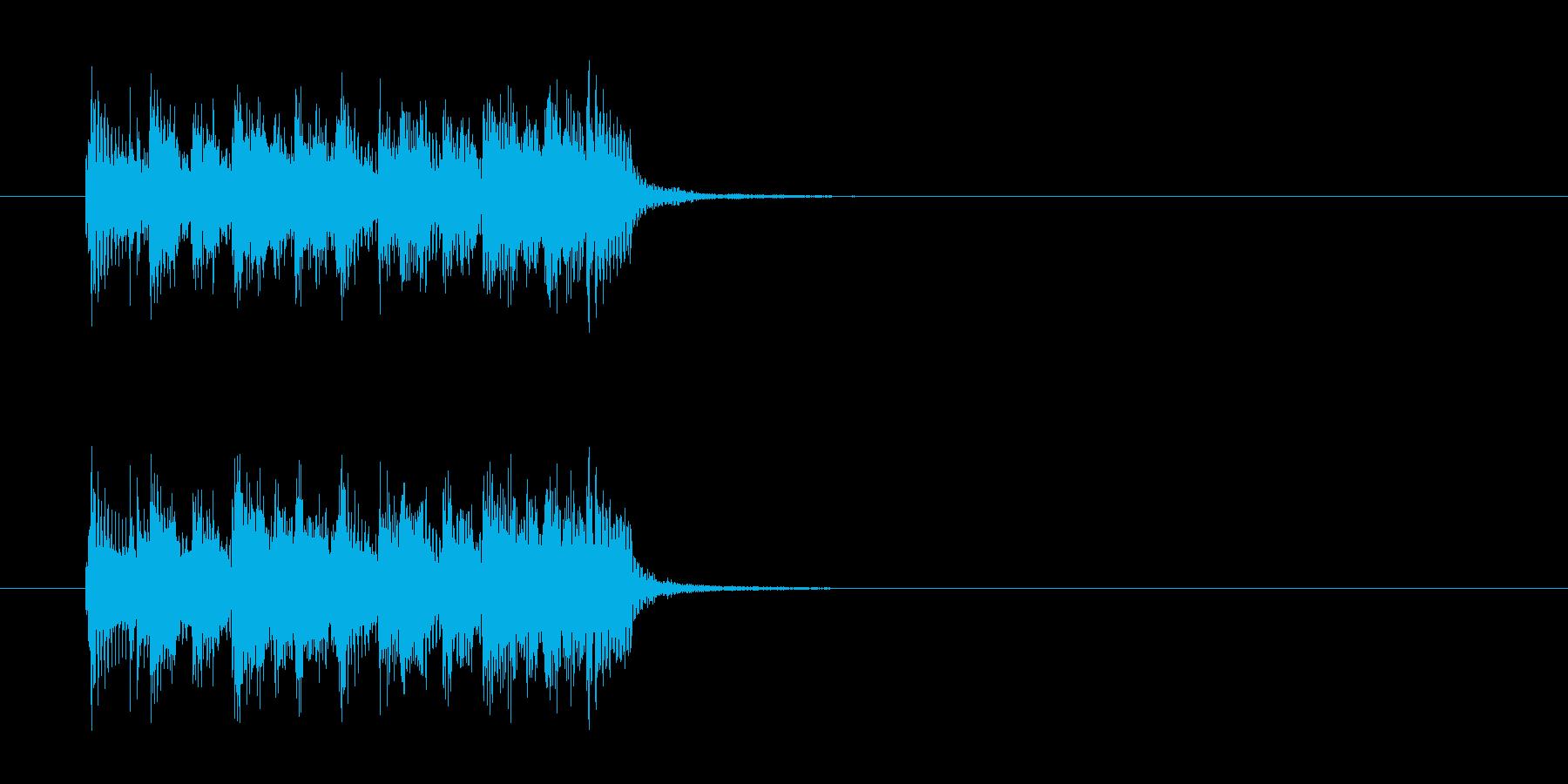 ジングル(ポップ調)の再生済みの波形