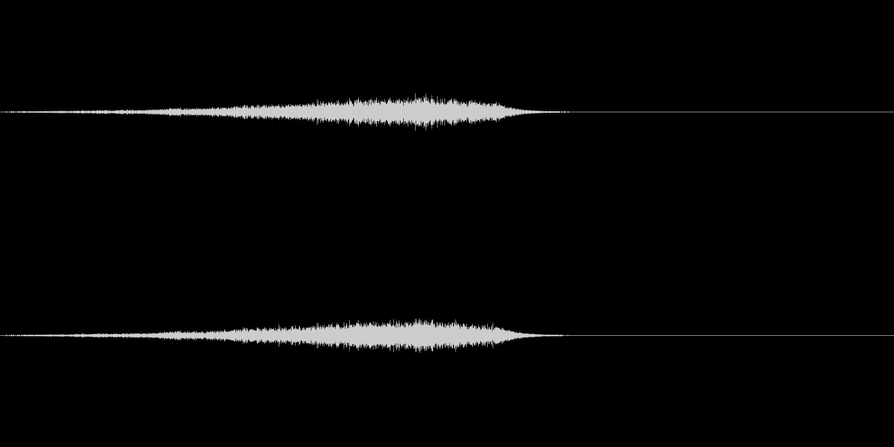 しゅーん(ワープの音)の未再生の波形