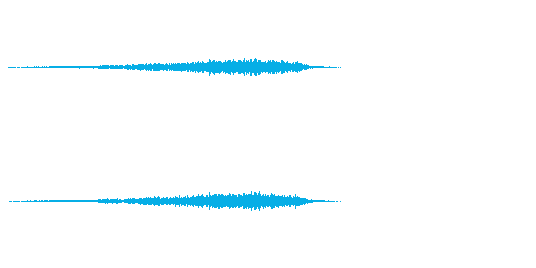 しゅーん(ワープの音)の再生済みの波形