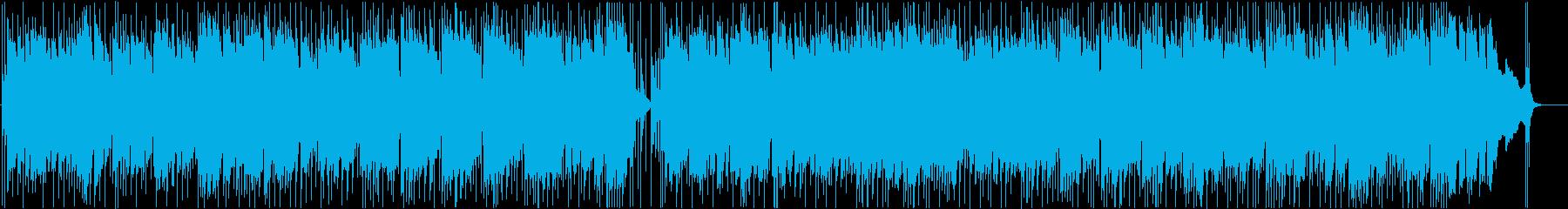 グルービーなジャズ風ロックの再生済みの波形