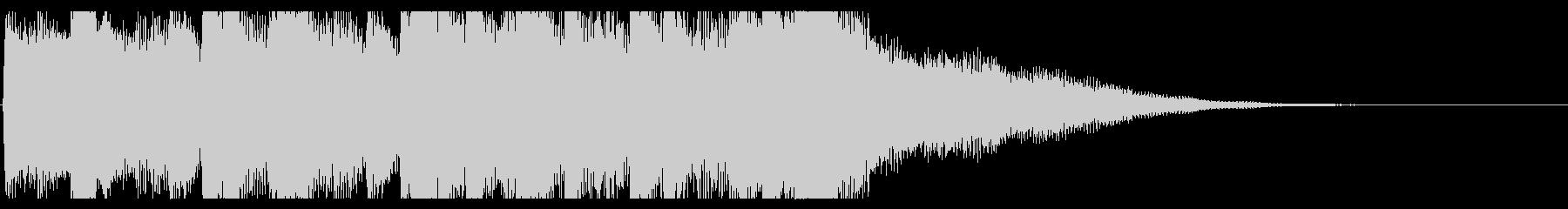 ミステリアスなピアノ 場面転換 切り替えの未再生の波形