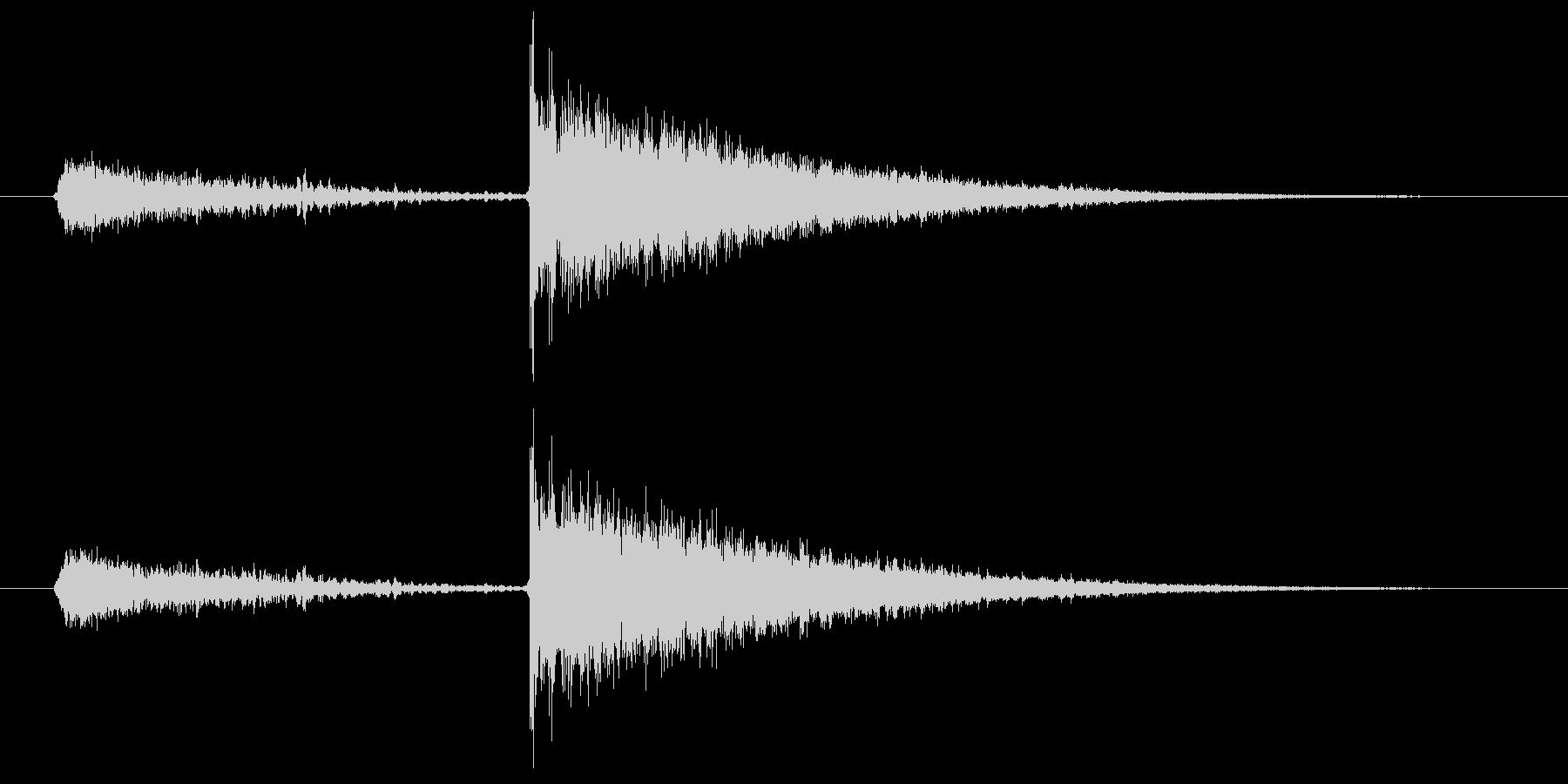 闇のスキルが成長したときの効果音2の未再生の波形