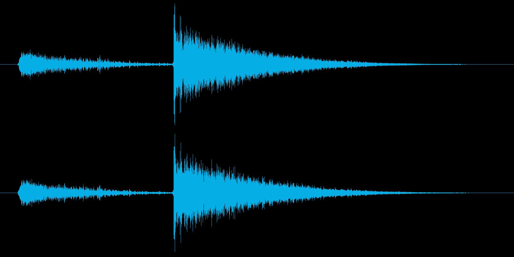 闇のスキルが成長したときの効果音2の再生済みの波形