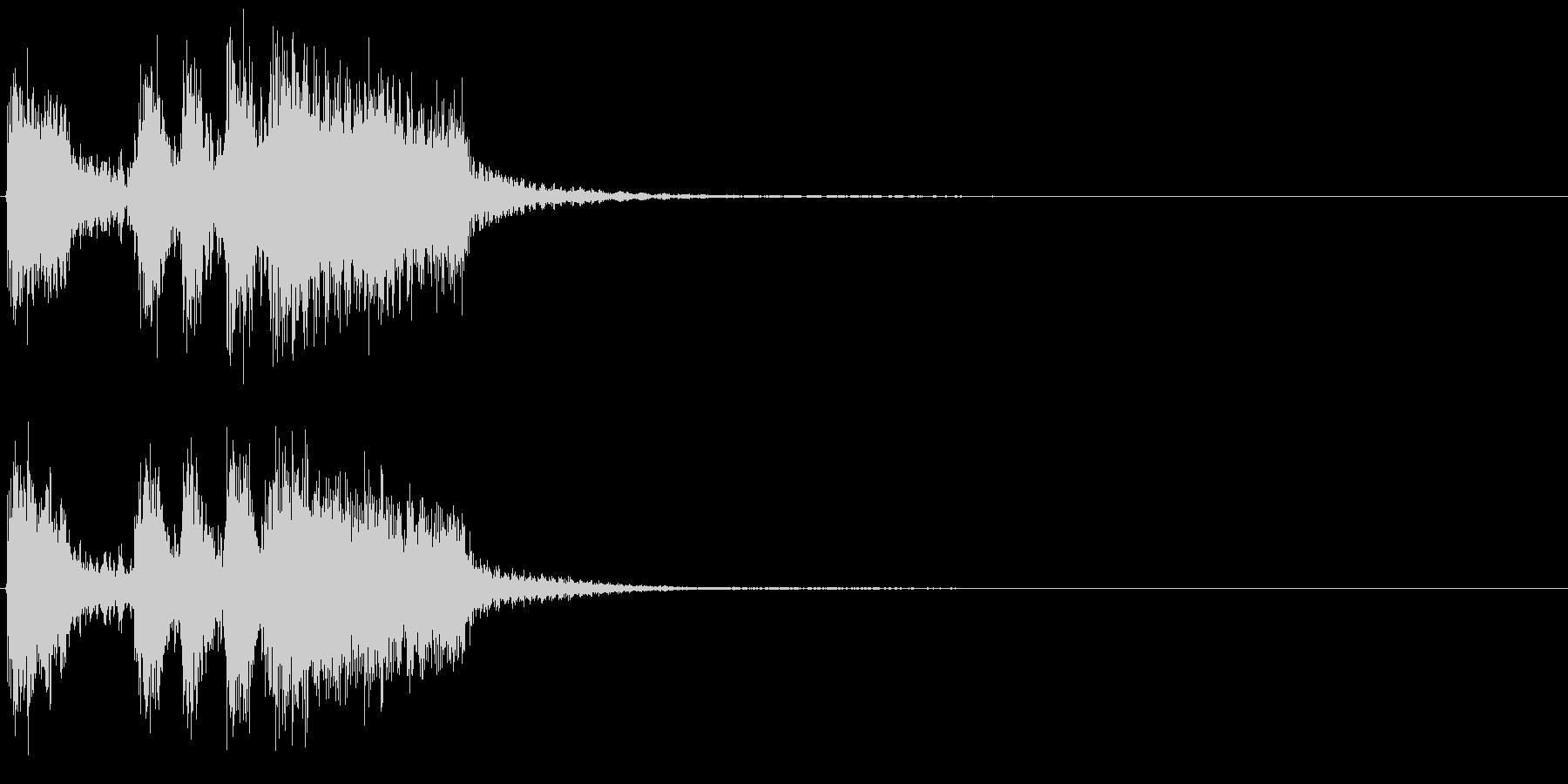 ミッションクリアのジングルですの未再生の波形
