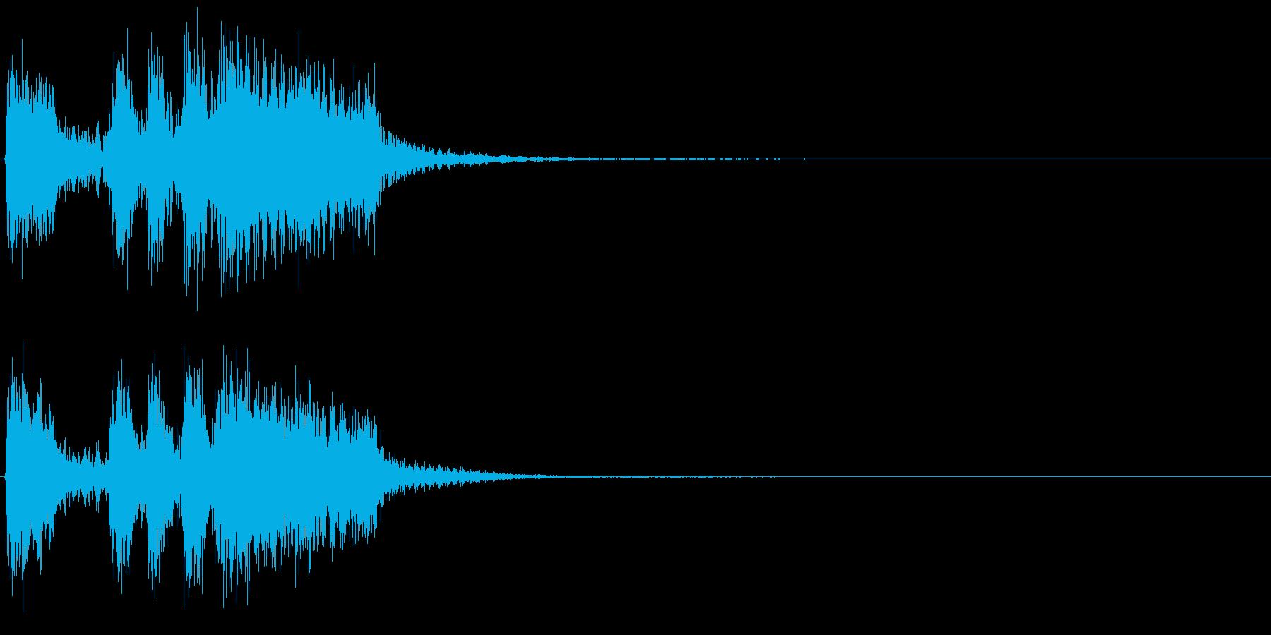 ミッションクリアのジングルですの再生済みの波形