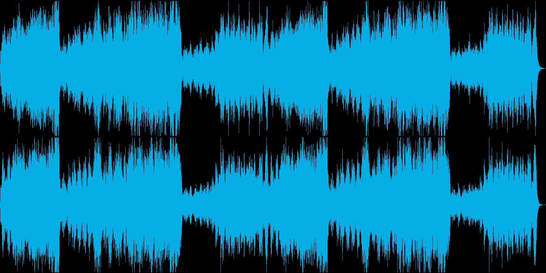 ファンファーレ+ハリウッド風BGMの再生済みの波形