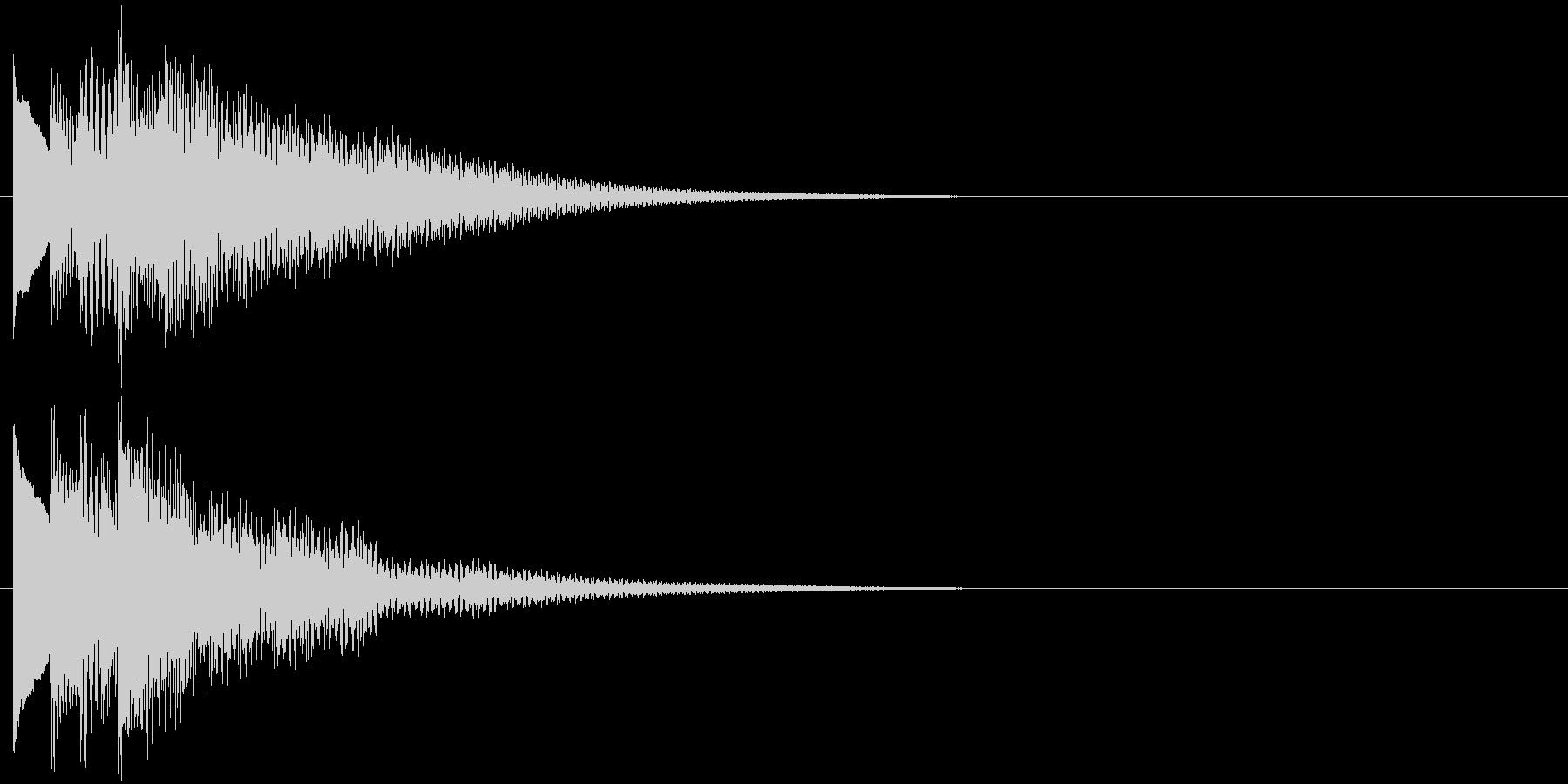 フレーズ系01 文字、スーパー表示(小)の未再生の波形