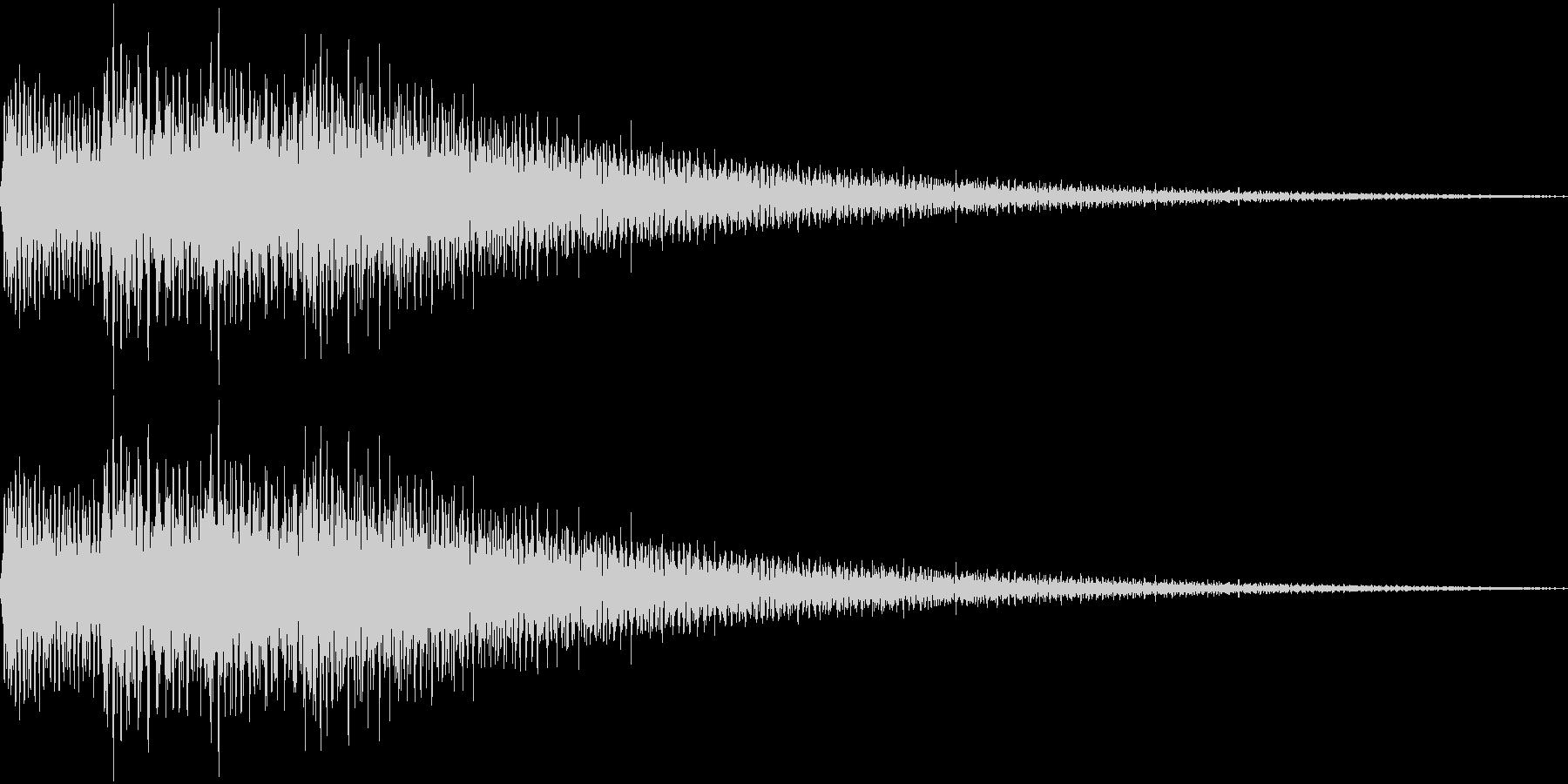 ピロローン(上昇)の未再生の波形