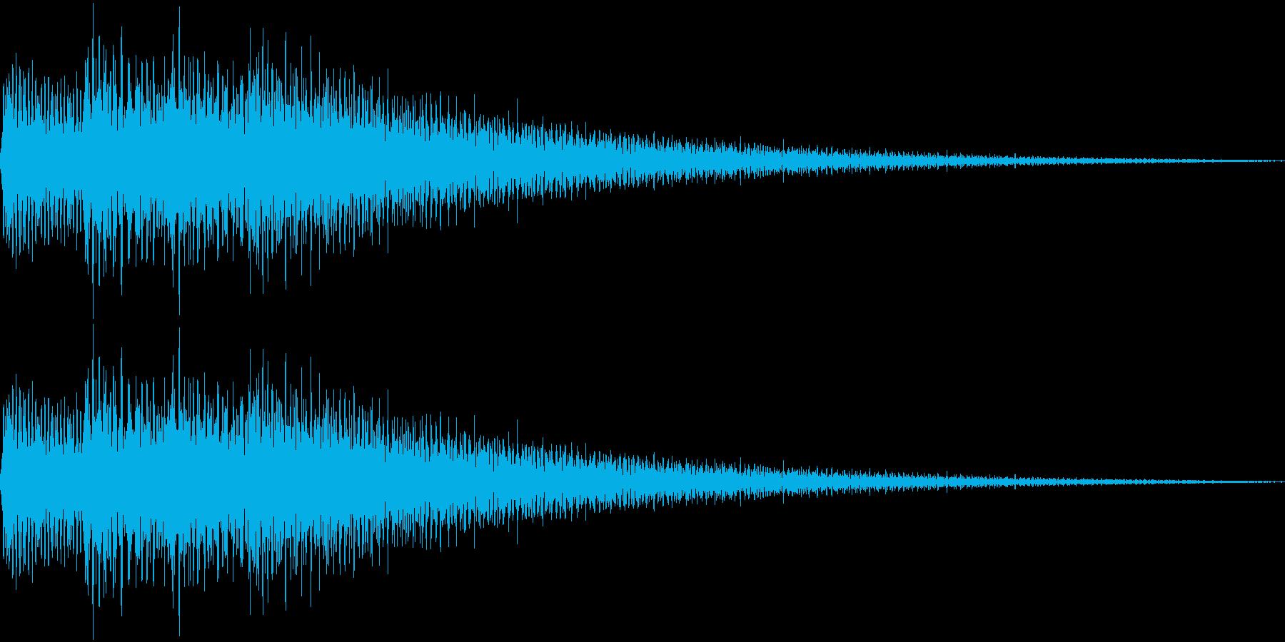 ピロローン(上昇)の再生済みの波形