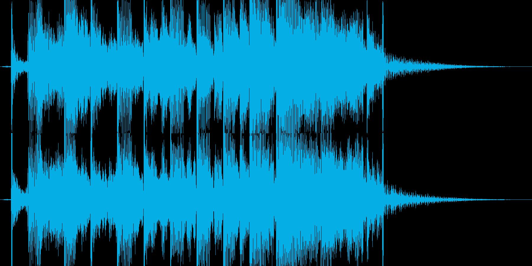 【ジングル】コミカルなジングルの再生済みの波形