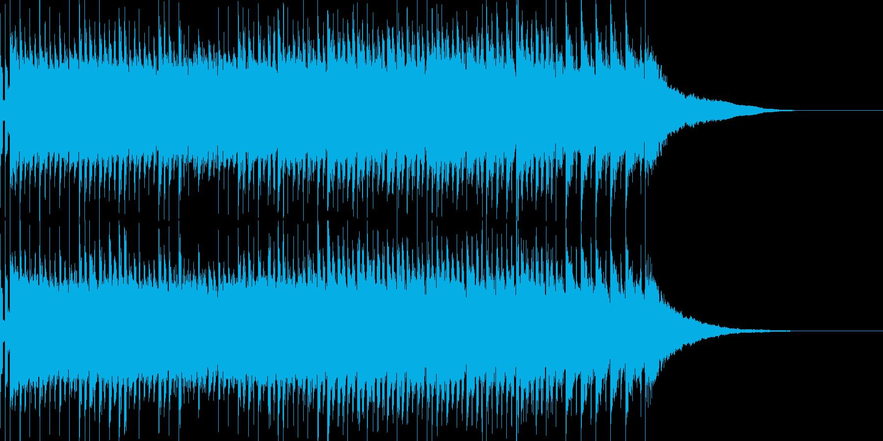 トランスユーロビート風EDMの再生済みの波形