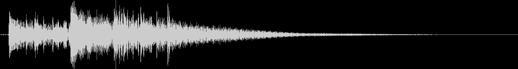 切ない雰囲気のアコギのジングル1の未再生の波形