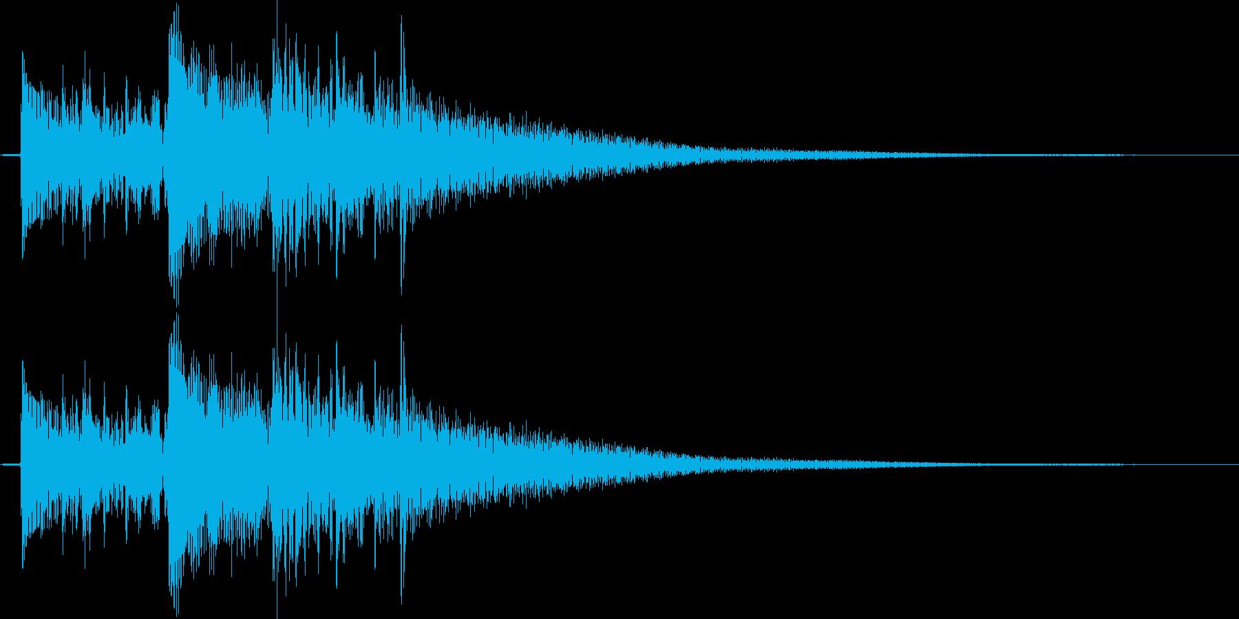 切ない雰囲気のアコギのジングル1の再生済みの波形