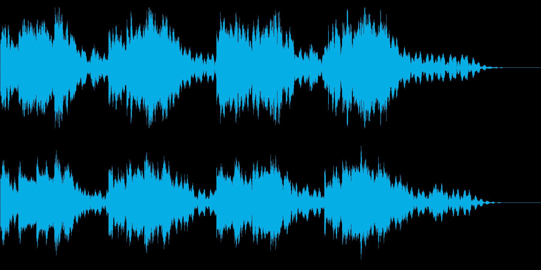 真夜中のチャイムの再生済みの波形