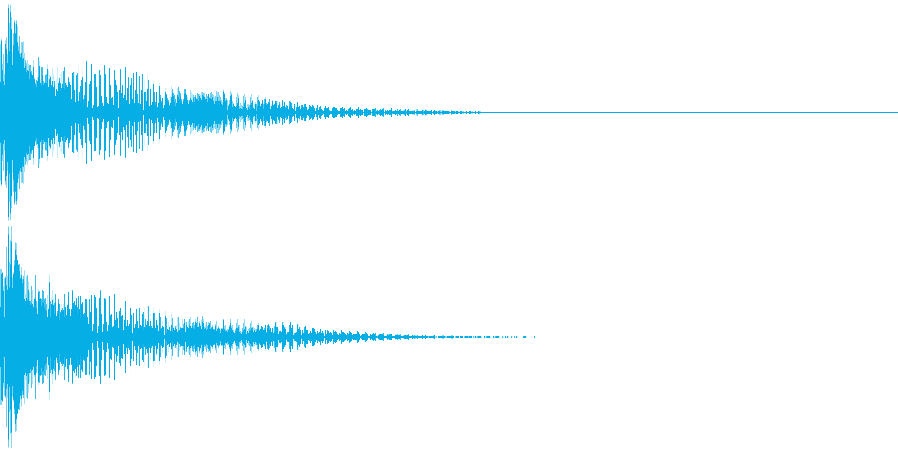 DigitalGun デジタルな銃撃音の再生済みの波形