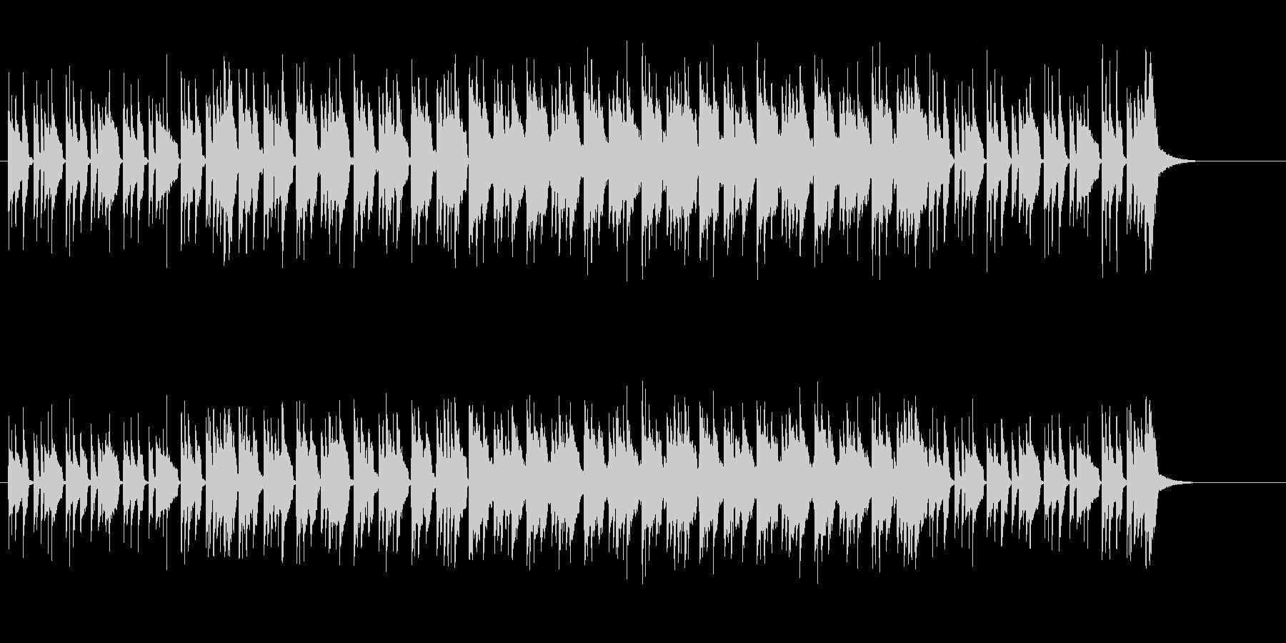 おふざけ調エレクトリック・ポップの未再生の波形