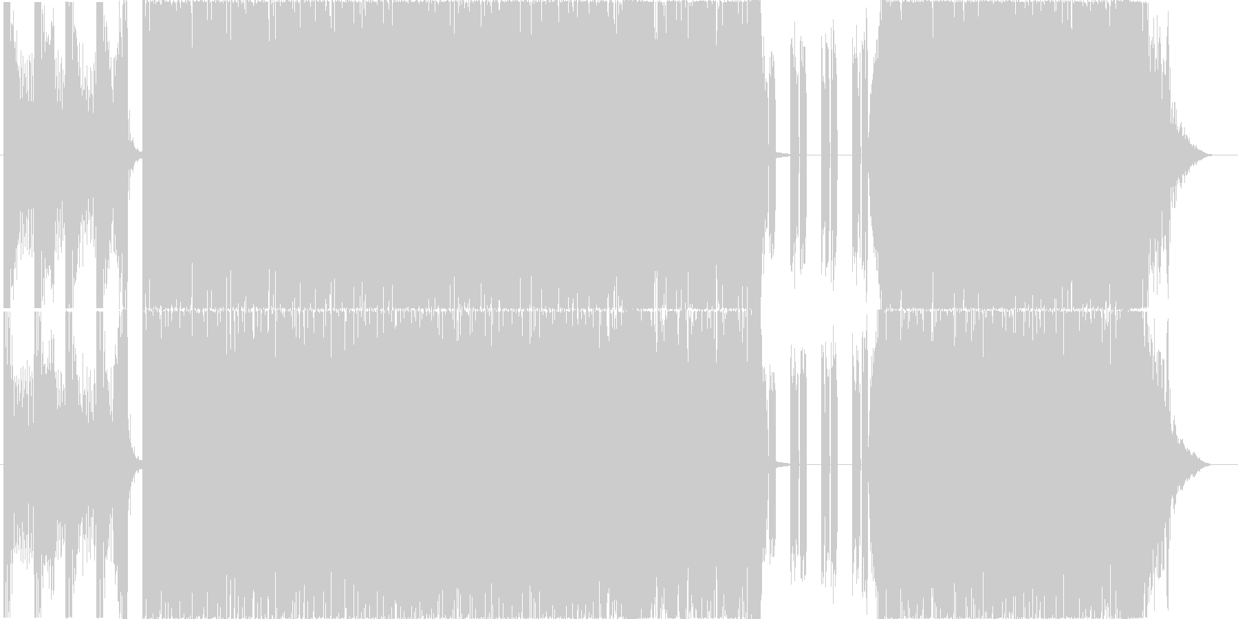 重めのギターが印象的な4分打ちの楽曲02の未再生の波形