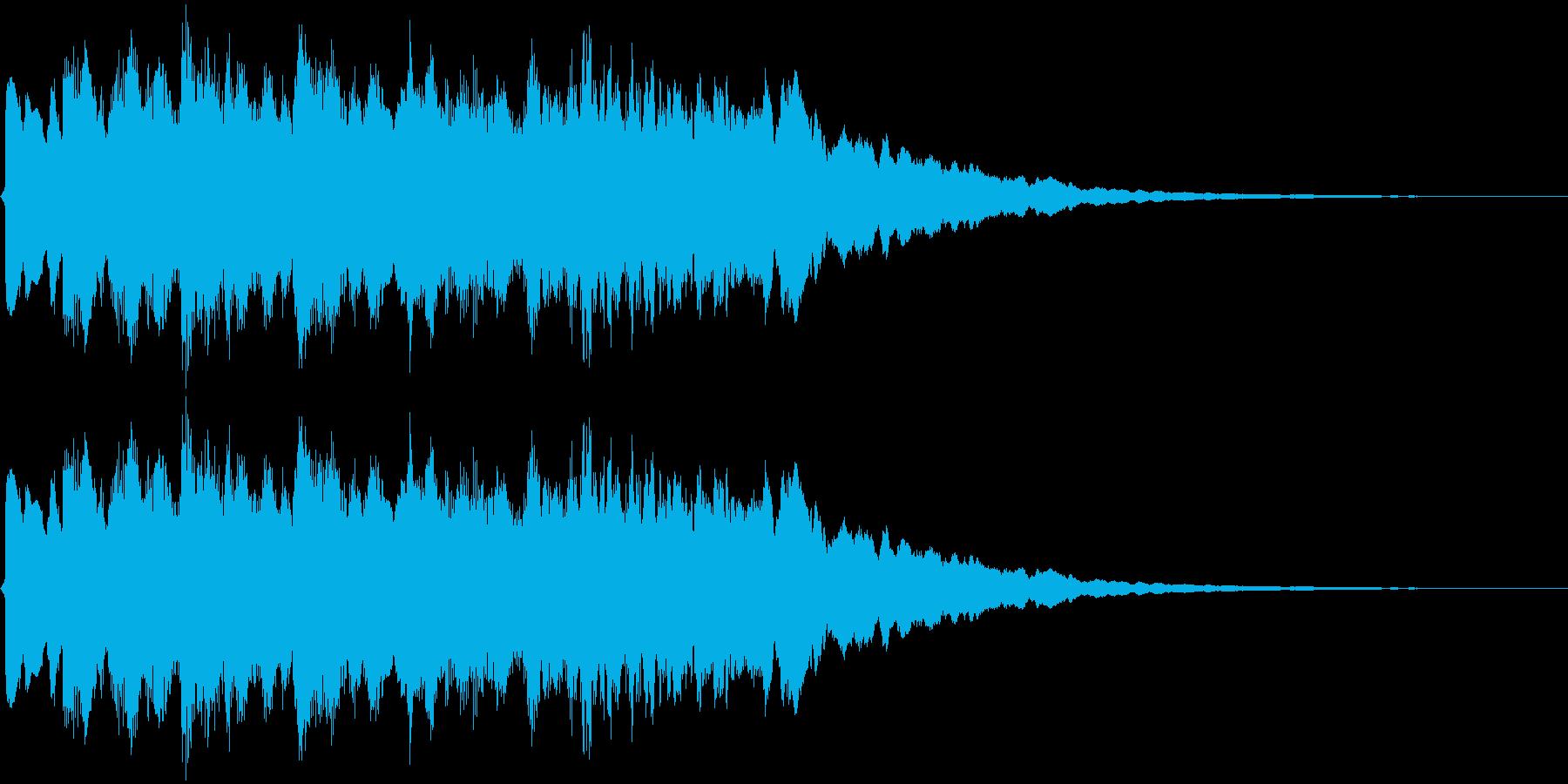 変なジングルの再生済みの波形