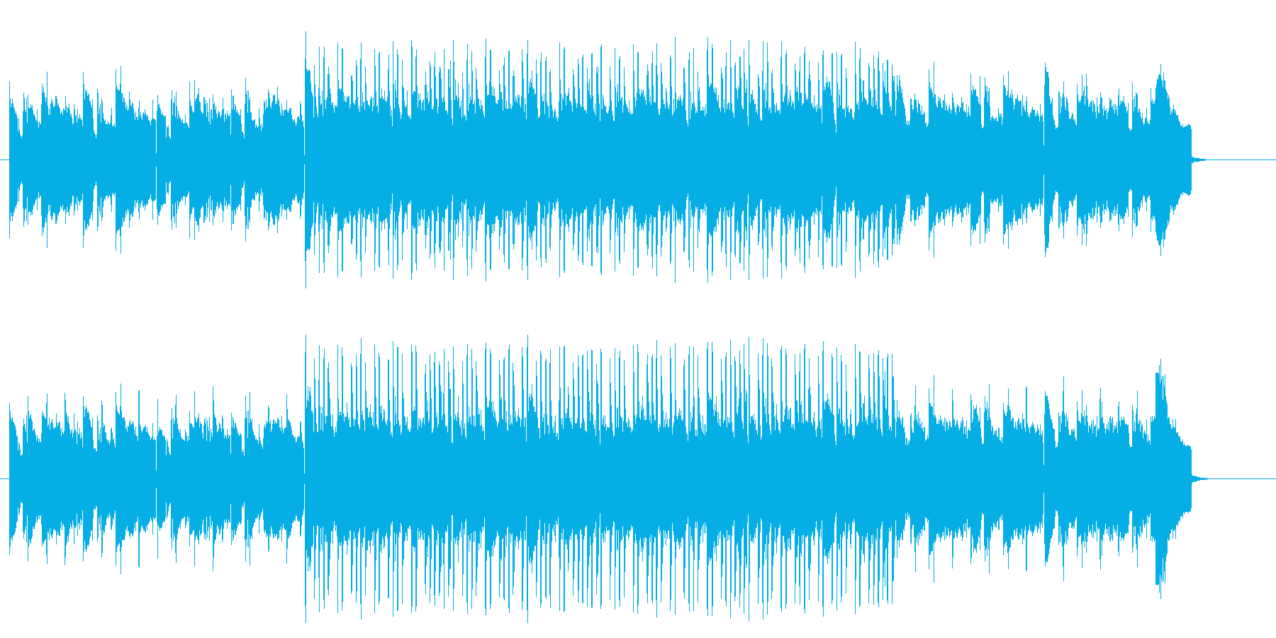 南国のエスニックなワールド系テクノポップの再生済みの波形