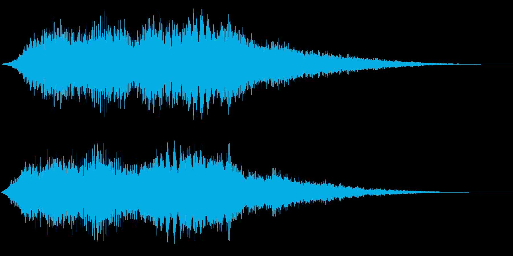 明るくキラキラした感じのサウンドロゴ、…の再生済みの波形