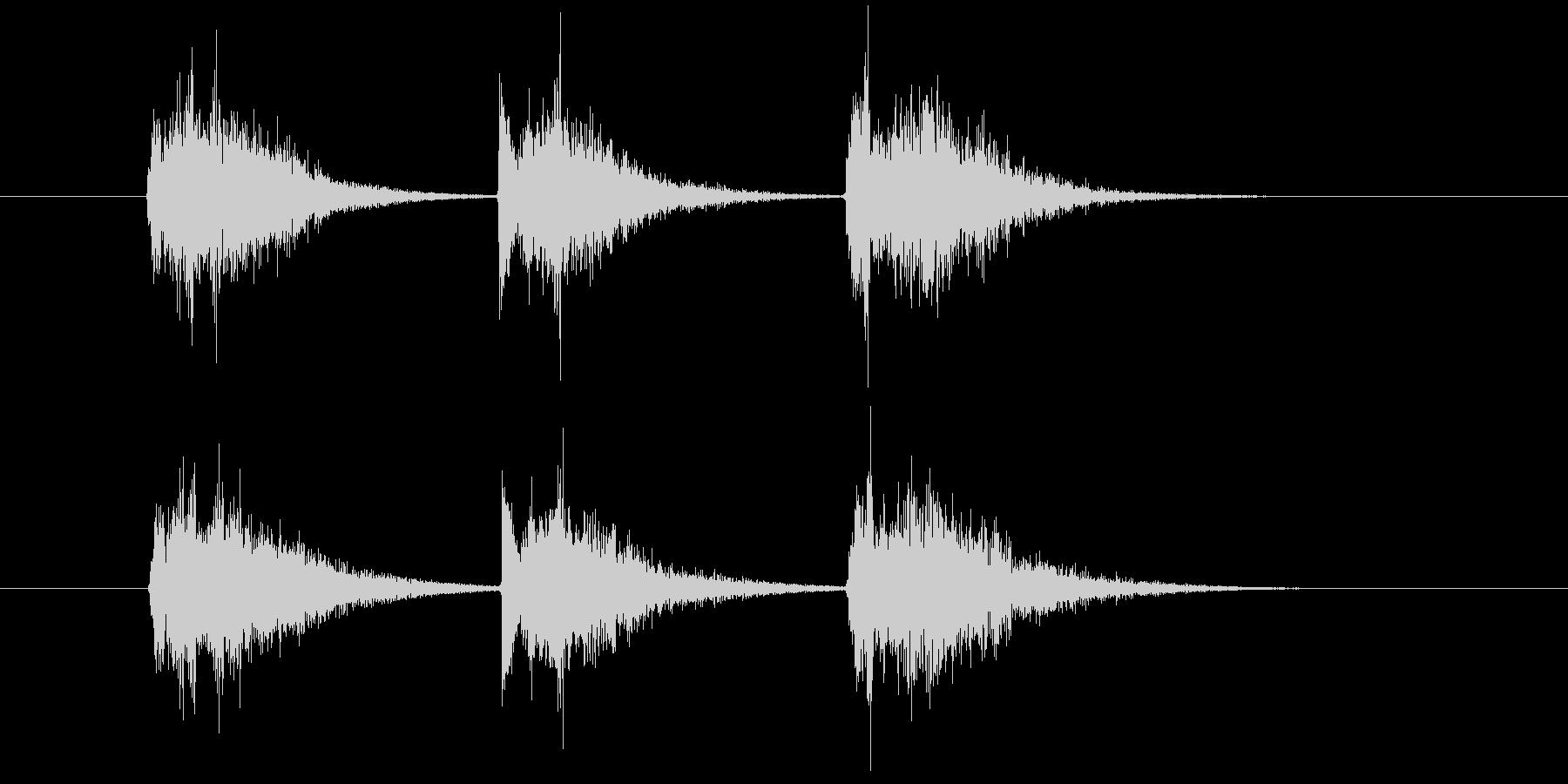 ゲーム等、開始前カウント(3-2-1)Aの未再生の波形