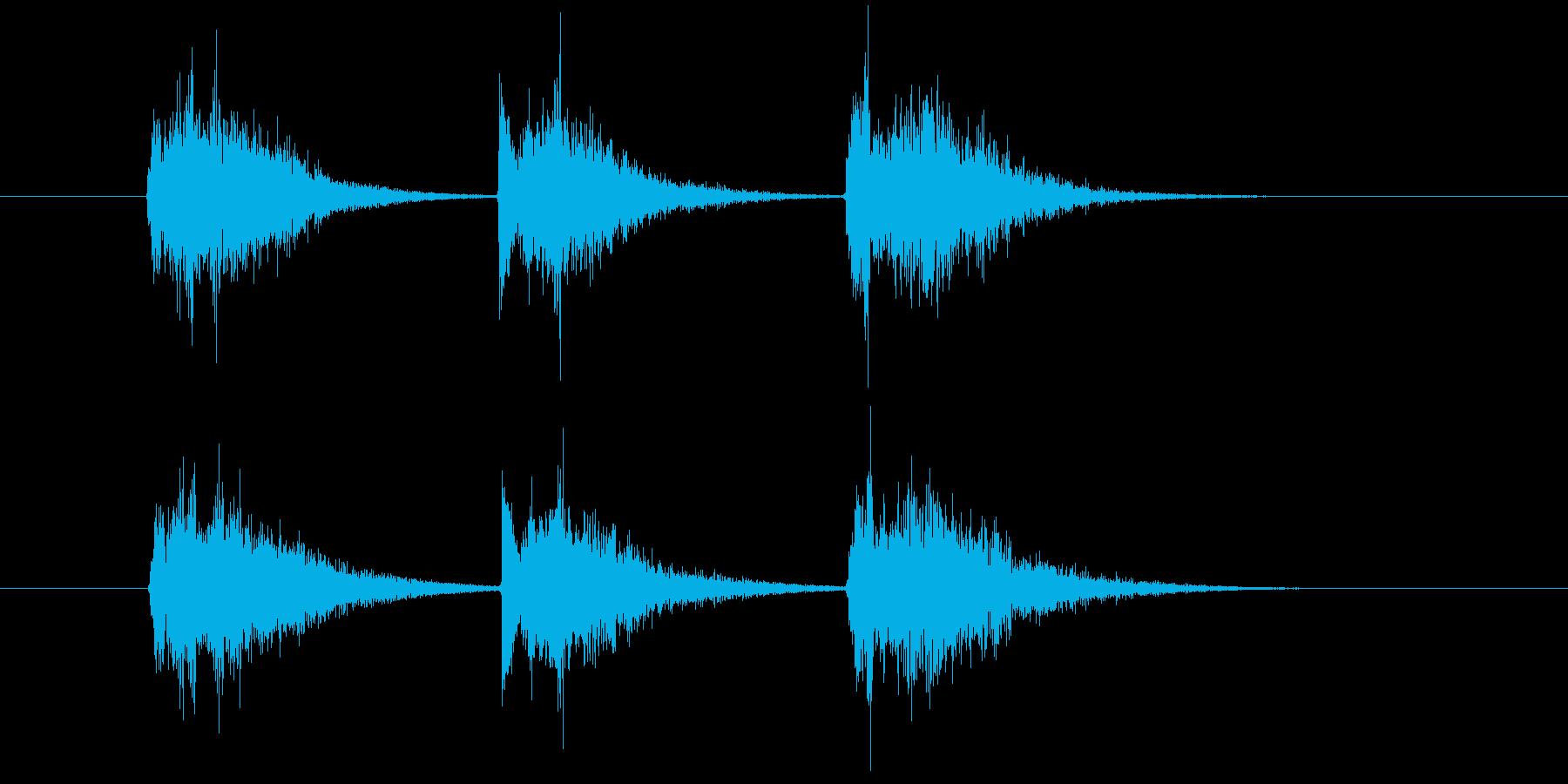 ゲーム等、開始前カウント(3-2-1)Aの再生済みの波形