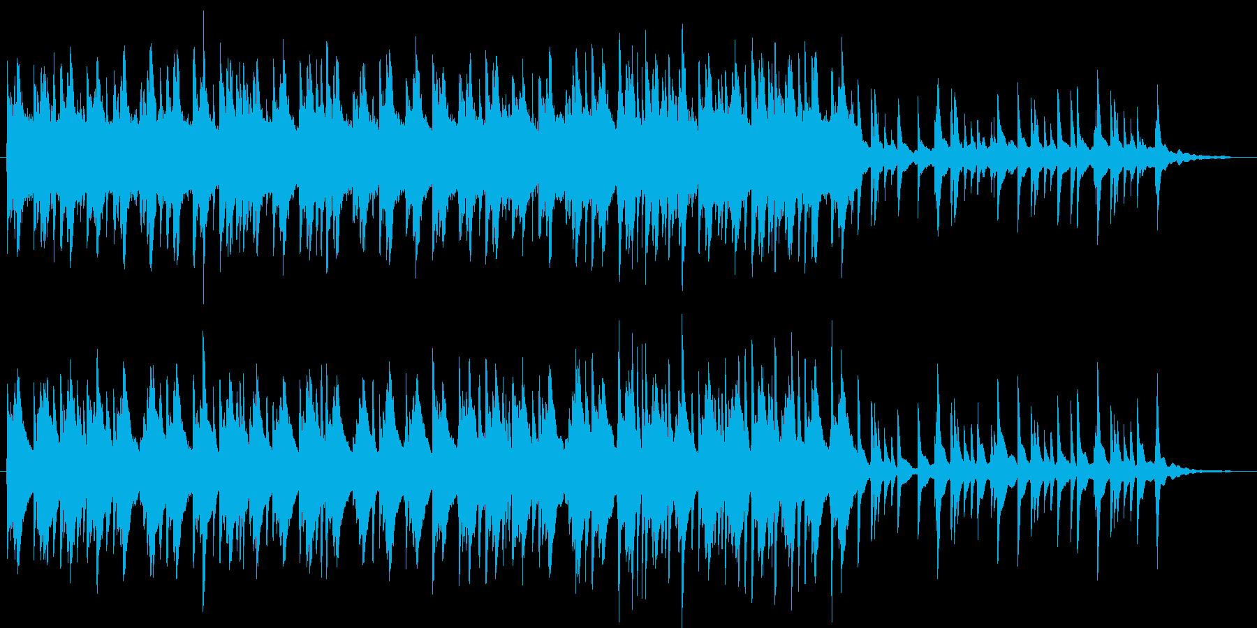 静かな雨の朝をイメージしたピアノソロ曲の再生済みの波形