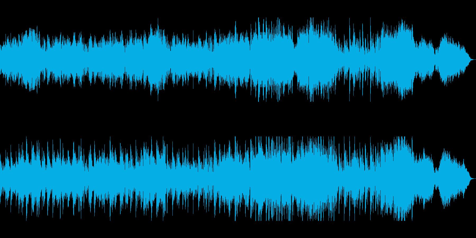 軽快で爽やかなヒーリングミュージックの再生済みの波形
