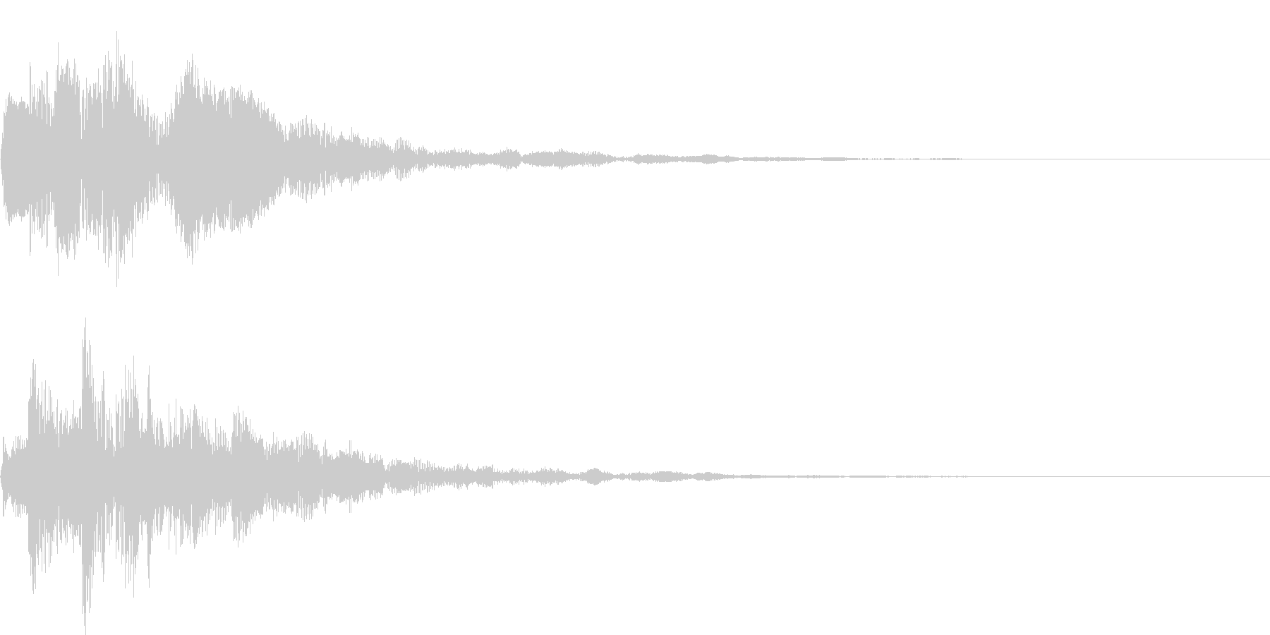 ポロリローン(決定、メニュー)の未再生の波形