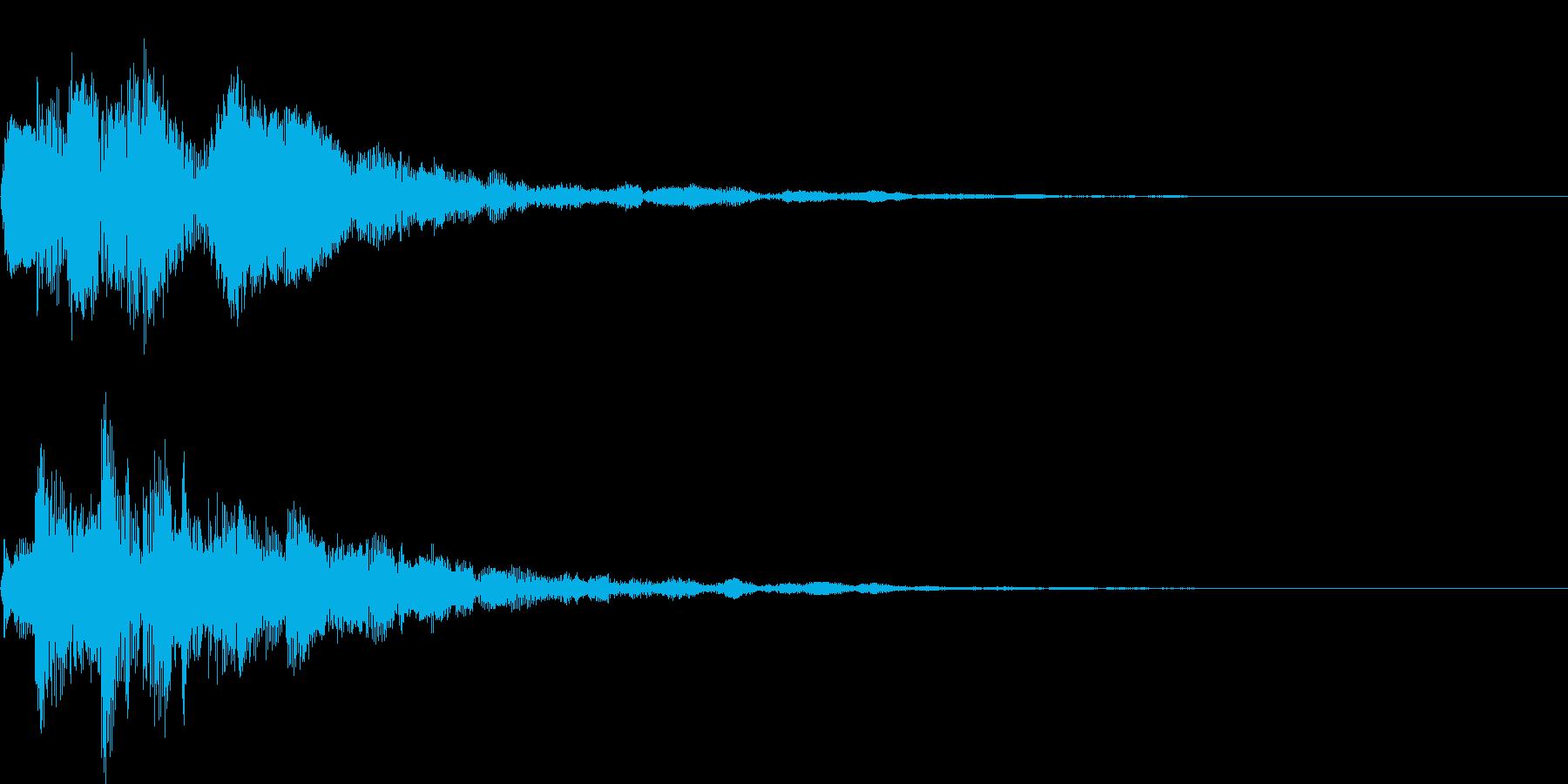 ポロリローン(決定、メニュー)の再生済みの波形