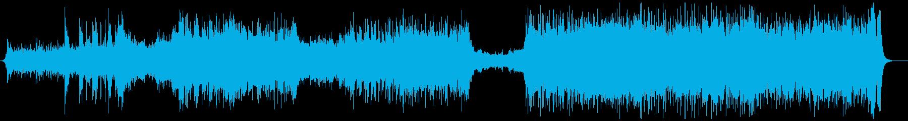 激しいハリウッド映画風トレーラー音楽の再生済みの波形