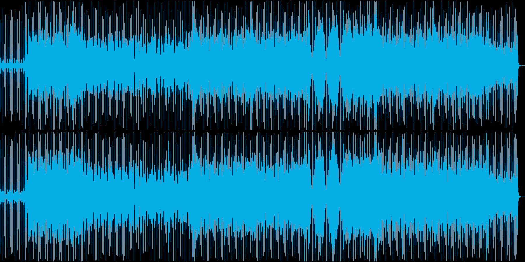 踊りや、手拍子がしたくなるポップ曲の再生済みの波形