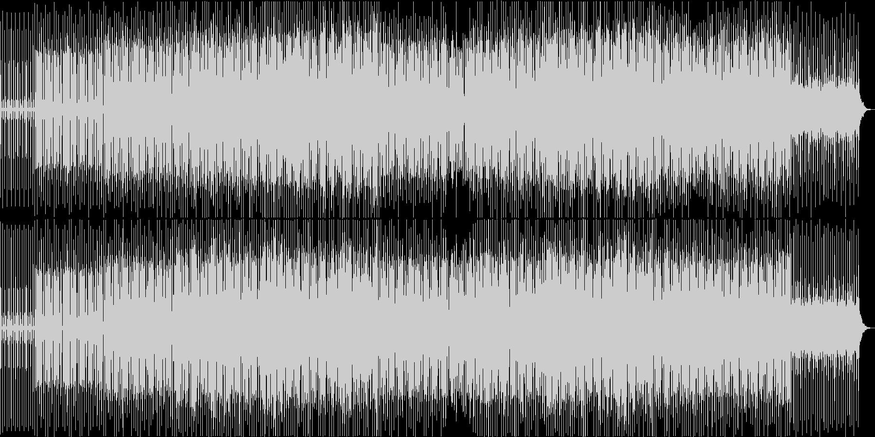 懐かしいピアノループのある4つ打ち音の未再生の波形