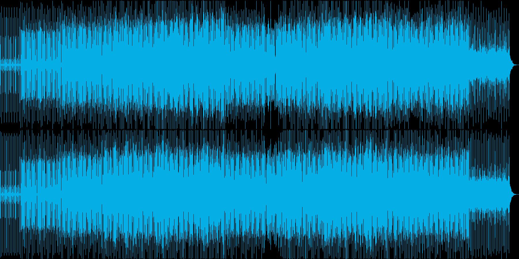 懐かしいピアノループのある4つ打ち音の再生済みの波形
