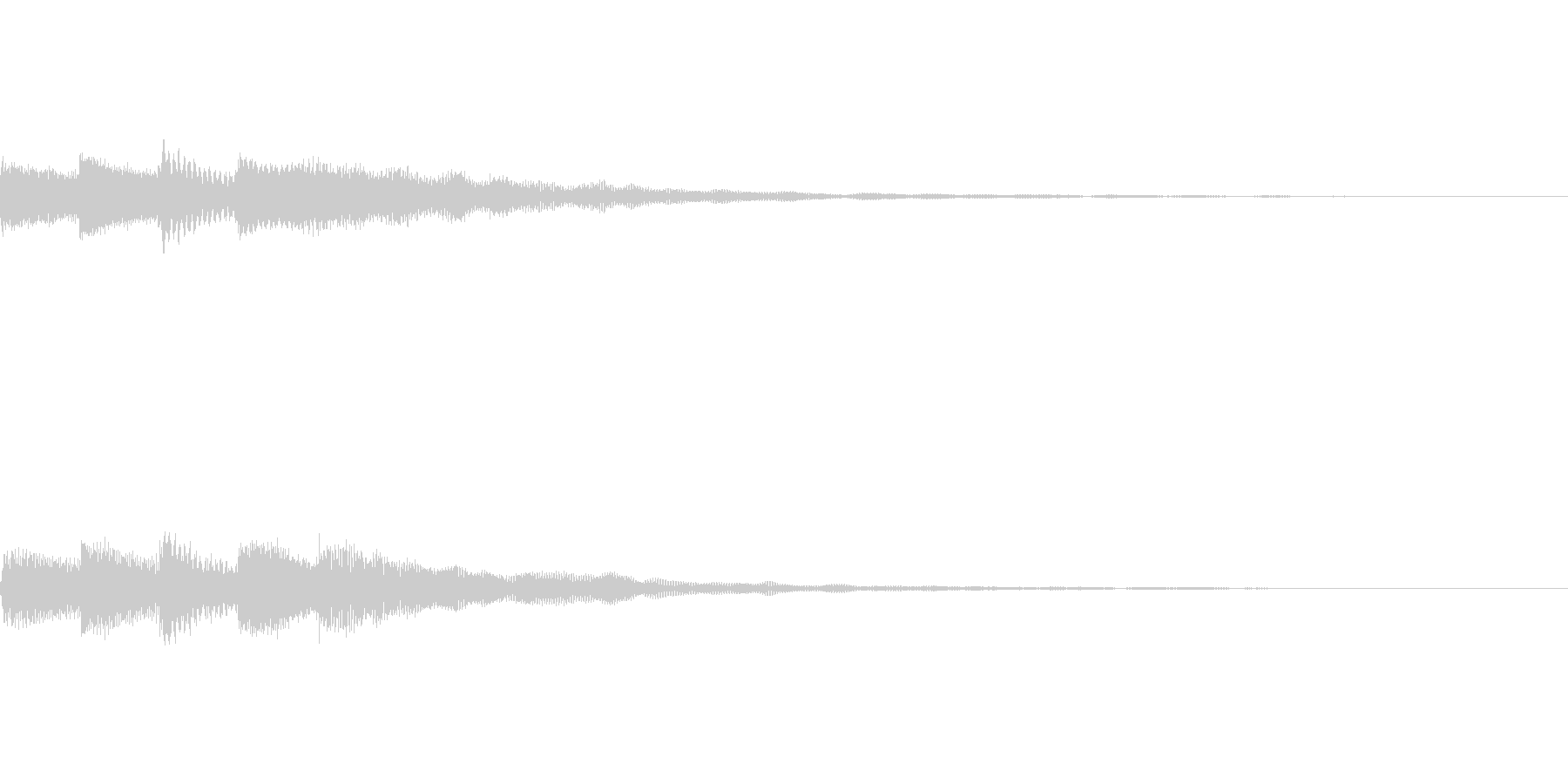 幻想的でミステリアスなピアノのスタート音の未再生の波形