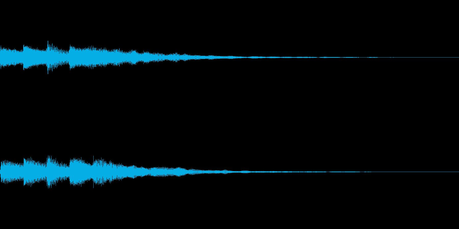 幻想的でミステリアスなピアノのスタート音の再生済みの波形