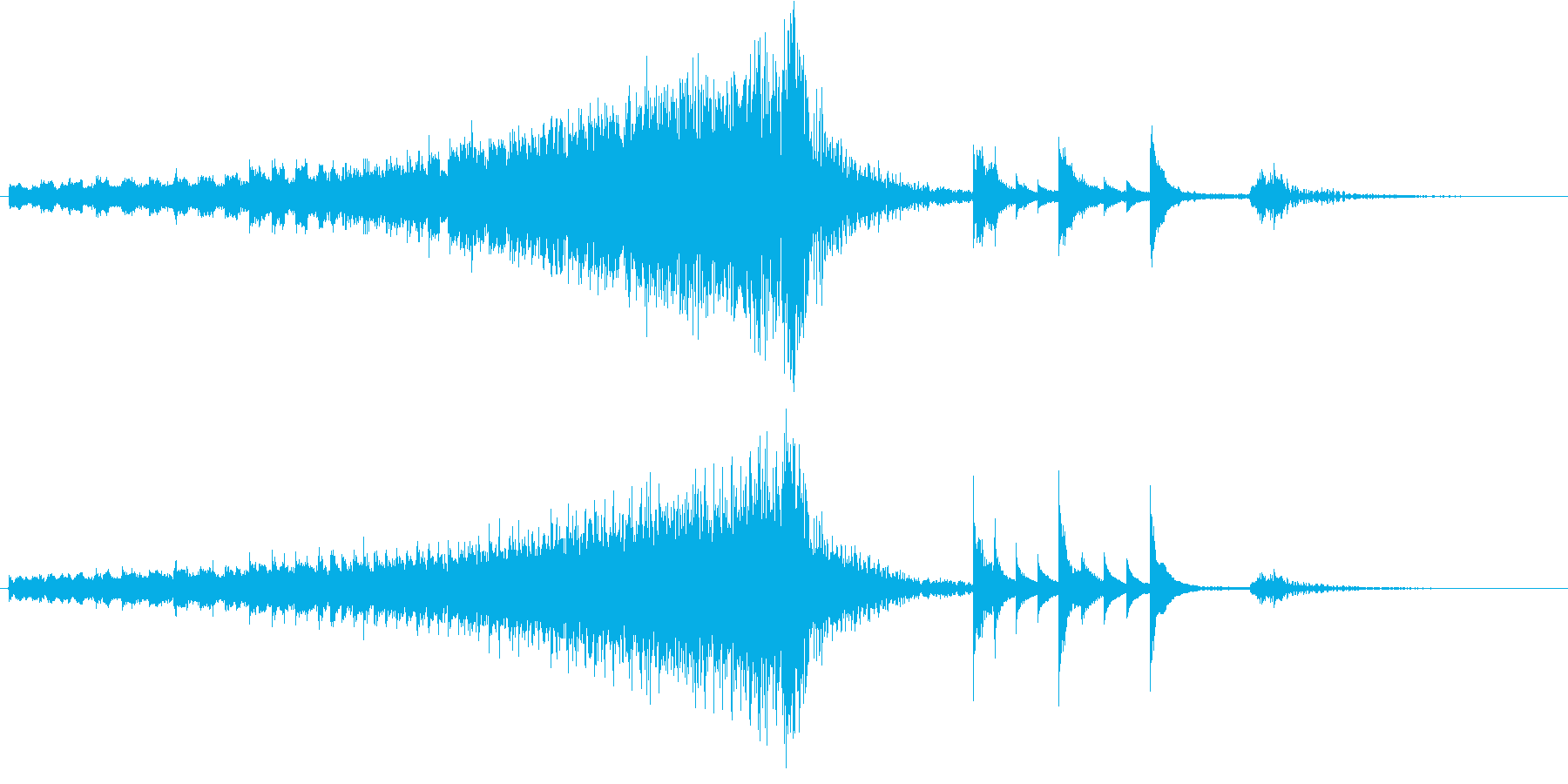 アニメなどでの落下シーンで使用されるこ…の再生済みの波形