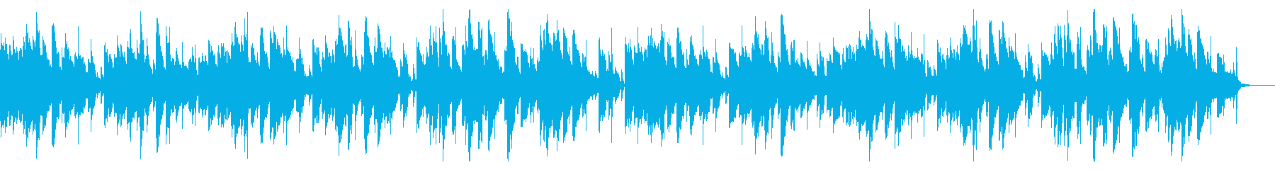そよ風が歌うようなピアノ曲(2回)の再生済みの波形